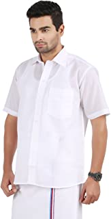 Prakasam Mens Formal Mono Cotton Half Sleeve Shirt (Regular fit)
