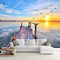 xueshao 壁紙自然風景海の景色大きな壁の絵壁の装飾リビングルームの寝室モダンな壁紙