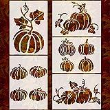5 Sheets Pumpkin Stencils Thanksgiving...