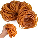 Coopay 120 Pieces Rubber Bands Elastic Trash Can Bands Office File Folder Strong Elastic Rubber Bands for School Home Office Supplies (Yellow, 4 x 0.12 Inch)