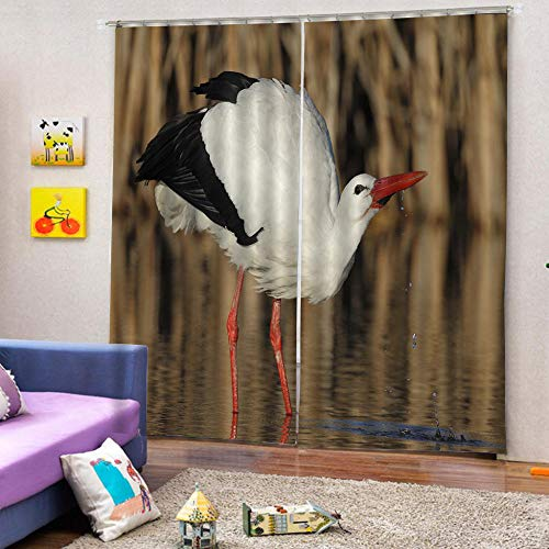 zpangg Black Out Window Cover Beautiful Bird Blackout For Children Bedroom Eyelet Thermal Insulated Room Darkening Curtains For Nursery Living Room Bedroom 184×214Cm