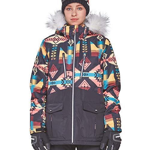 Victrax Women's Ski Jacket Waterproof Outdoor Hooded Snowboard Jacket Print XL