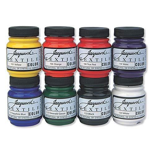Jacquard Products Textil Color Tela Pintura 2.25oz Primaria y Secundaria Colores, acrílico, Multicolor