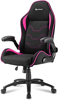 Sharkoon Elbrus 1 Gaming Chair/ Seat, Durable upto 120 Kgs - Black/ Pink