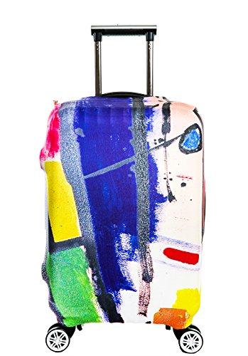 SINOKAL Elastische 18-20 Zoll 22-24 Zoll 26-28 Zoll 30-32 Zoll Koffer Abdeckung Gepäckraumabdeckung Protektor (Koffer nicht im Lieferumfang enthalten) (L(Für die 26 -28 Zoll - Kiste), 1Color Palette)