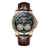 Reloj AILANG para Hombre, 2021 Nuevo Reloj De Moda Mecánico Suizo Impermeable con Doble Tourbillon Automático De 30 M