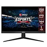 MSI Optix G241 Monitor Gaming 24', Display 16:9 FHD (1920x1080), Frequenza 144Hz, Tempo di risposta 1ms, Pannello IPS, AMD FreeSync, Night Vision, Frameless
