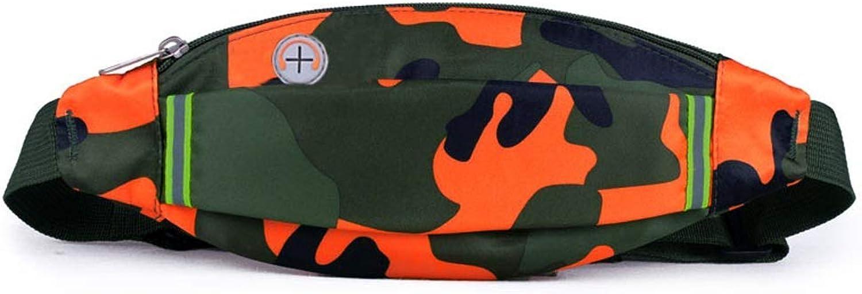 Men Women Multifunction Mobile Phone Bag Sport Waist Pack Cell Phone Pocket Fitness Equipment Small Belt Bag (color   Dark Green)