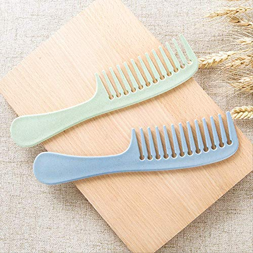 Comb Teeth Comb Plastic Heat-resistant Large Wide Tooth Hairdressing Long Hair Combing Household Anti-static Massage Creative Style 2pcs