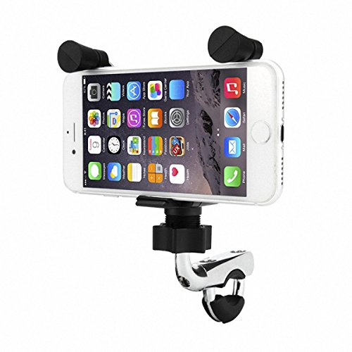 CALALEIE Montaje de la bicicleta de la motocicleta del cargador USB del tenedor del teléfono de 4.5-6 pulgadas con el fusible para el iPhone 8 Huawei Piezas de decoración de motos nuevas