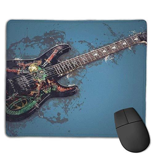 Alfombrilla de ratón Individual para Guitarra eléctrica con Borde Cosido, Base de...