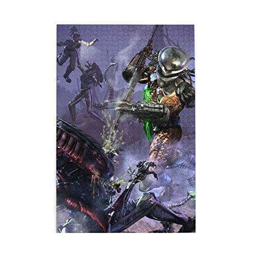JBGzlanm Alien vs Predator Anime 1000 PCS Puzzles, Sports Puzzles, 1000 Adult Puzzles, Children's Puzzle Toys, Game Puzzles