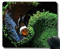 マウスパッド、個性豊かなマウスマットの魚デザインテーマ 18x22cm