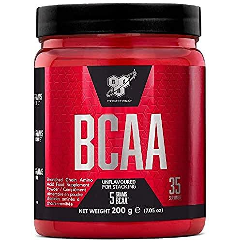 BSN DNA BCAA, essentiële aminozuren poeder, spieropbouw voeding, ongeflavoured, 35 porties, 200 g