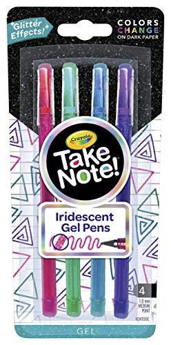 Crayola Iridescent Gel Pens, Office & School Supplies, 1.0Mm Medium Pt., 4Count