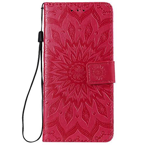 Hülle für Huawei Honor View 20 Handyhülle Schutzhülle Leder PU Wallet Bumper Lederhülle Ledertasche Klapphülle Klappbar Magnetisch für Huawei Honor View20 - ZIKT031031 Rot