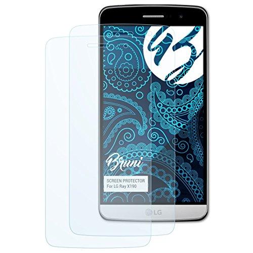 Bruni Schutzfolie kompatibel mit LG Ray X190 / Zone Folie, glasklare Bildschirmschutzfolie (2X)