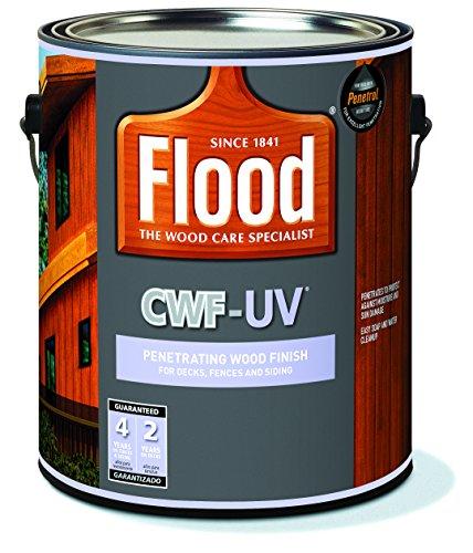 Flood 10273521157 CWF-UV Penetrating Wood Finish for Decks, Fences, and Siding, Redwood, 1 gal