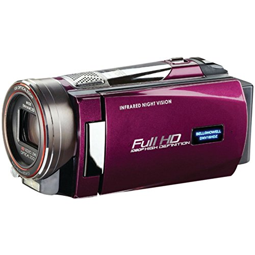Purple Night Vision Camcorder Bell+Howell DNV16HDZ 16.0MP Rogue 1080p HD Camera Accessories