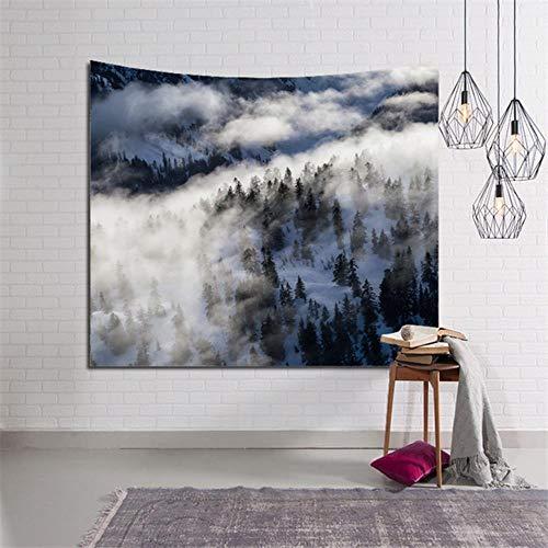 Tapiz de pared de bosque bohemio Camping viaje Yoga estera de playa manta de montaña alfombra tapiz de pared 150 * 200 cm