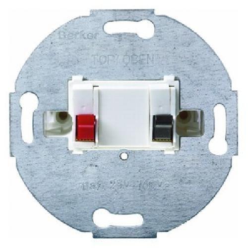 Hager BERK Lautsprecheranschlussdose 457209 polarweiss, Weiß, 1 Stück