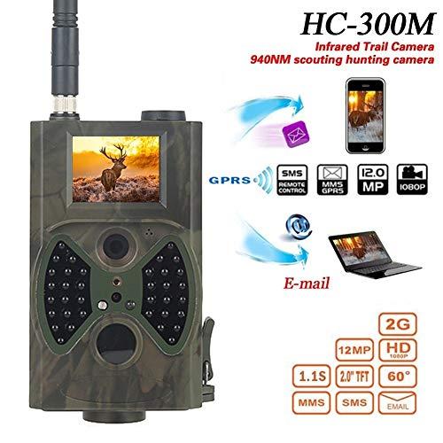 KUANGQIANWEI Wildkamera HC300M HC550M Hc-700G-Jagd-Kamera 12MP Night Vision MMS GPRS Foto Trap 3g Tracking-Kamera-Foto (Color : 300m)