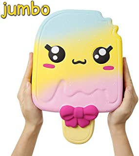 Anboor 11 Inch Squishies Jumbo Popsicle Kawaii Scented Soft Slow Rising Squeeze Giant Emoji Squishies Stress Relief Kids Toy