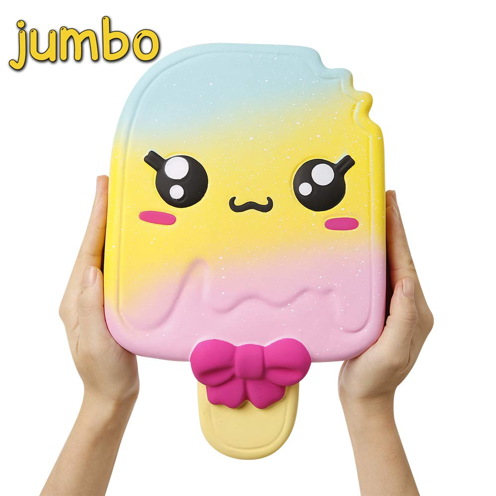 Anboor 11 Inch Squishies Jumbo Popsicle Kawaii Scented Soft Slow Rising Squeeze Giant Emoji Squishies Stress Relief Kids…