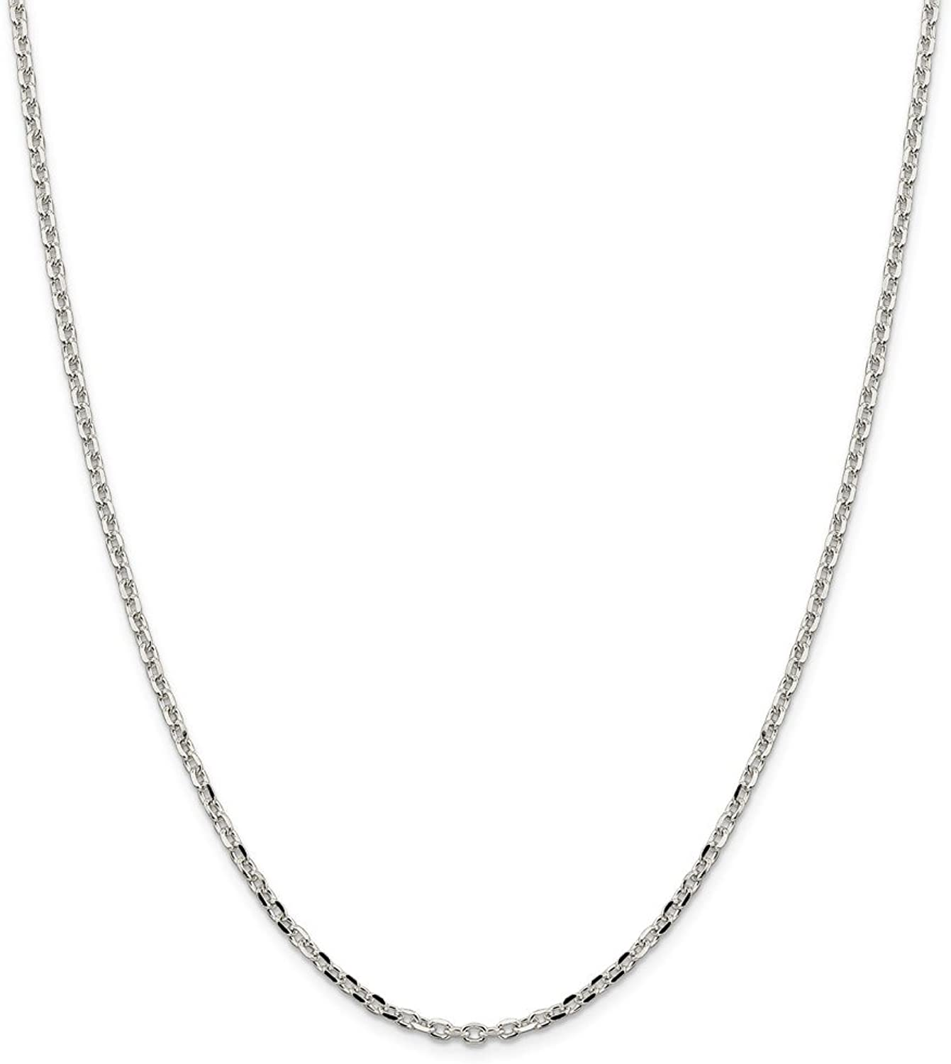 Beautiful Sterling silver 925 sterling Sterling Silver 2.75mm Diamondcut Cable Chain
