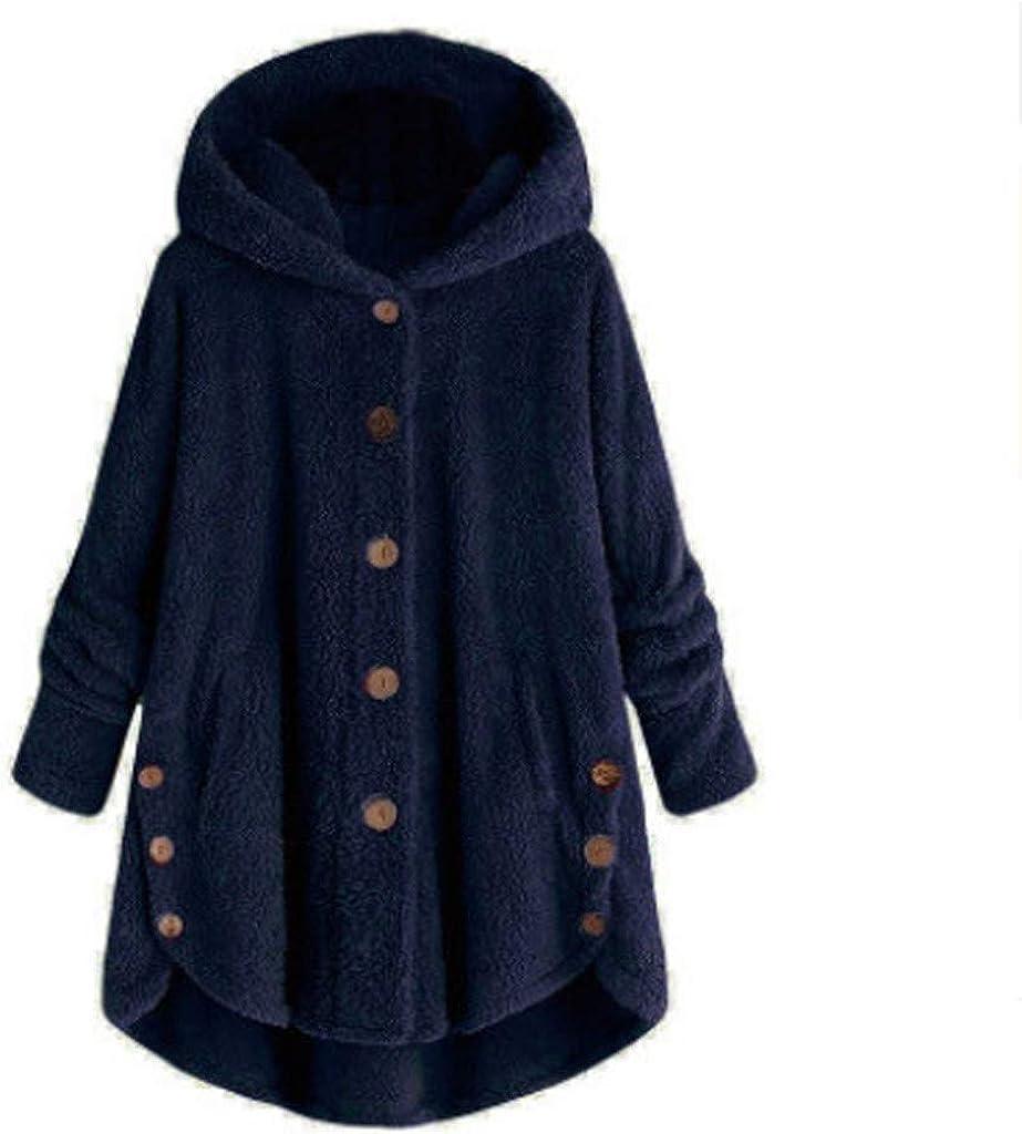 haoricu Women Shaggy Oversized Sweatshirt Faux Wool Coat Winter Warm Casual Loose Plus Size Fluffy Shaggy Jacket