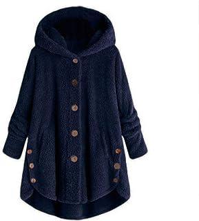 Women Coat QUINTRA Autumn Winter Corduroy Hooded Outwear High Low Hem Long Sleeve Jacket Side Button Overcoat