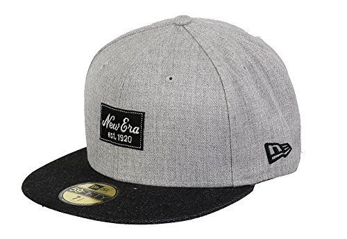 New Era 59fifty Basecap Heather Patch Heather Grey/Black - 7 1/4-58cm