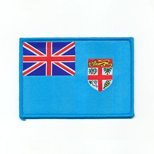 hegibaer 50 x 35 mm SUVA Republik Fidschi Inseln Flag Flagge Patch Aufnäher Aufbügler 0709 A