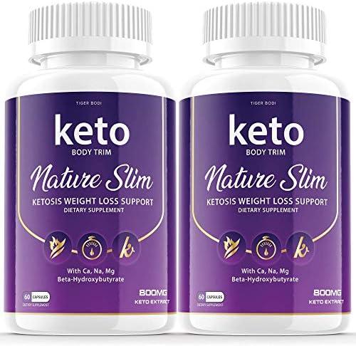 2 Pack Keto Body Trim Nature Slim Shark Tanks Pills Ketosis Weight Loss Pills Diet Advanced product image