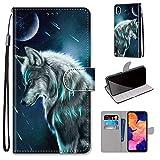 DICASI Handyhülle für Samsung Galaxy A10, Hochwertige Leder Klapphülle Handytasche Hülle mit Kartenfächern & Standfunktion für Samsung Galaxy A10 / Galaxy M10 Hülle