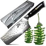 Zelite Infinity Cuchillos Cocina Nakiri de Chef 15 cm – Utensilios Cocina de Acero de Damasco Japonés AUS-10 de 67 capas - Cuchillos Cocina Profesional Acabado Tsuchime Martilleado