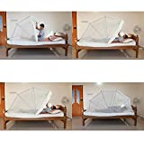 HAPPY365 Polycotton Foldable Mosquito Net for Single Bed (Beige, 3x6.5 ft) mosquito net May, 2021