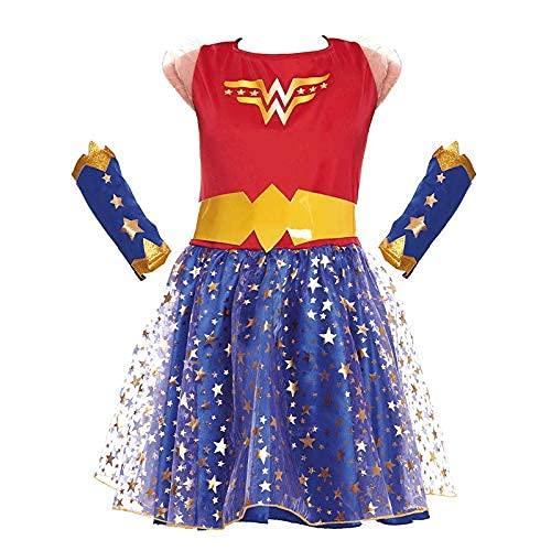 Disfraz Heroína Wonder Girl Niña Disfraz Superhéroe Niña (Talla 7-9 años) (+ Tallas)