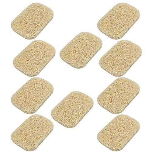 Nydotd 10 Pack Soap Saver, Soap Dish Soap Holder Accessory PVC Premium Material Non-Slip Soap Dishes Holder Soap Pad Bathroom Accessories (Beige)