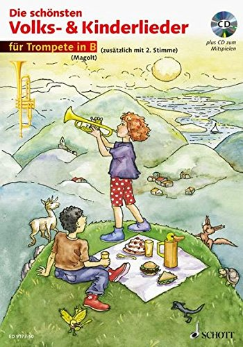 Die schönsten Volks- & Kinderlieder, Notenausg. m. Play-Along-CDs, Für Trompete, m. Audio-CD: sehr leicht bearbeitet. 1-2 Trompeten. Ausgabe mit CD.