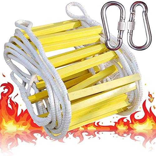 Escape Touw Ladder Noodbrand Zachte Ladder 2 Bergbeklimmen Ring Haken Stalen draad Gele Hars Ladder Frame Lager Gewicht 500kg Fitness Training Ladder