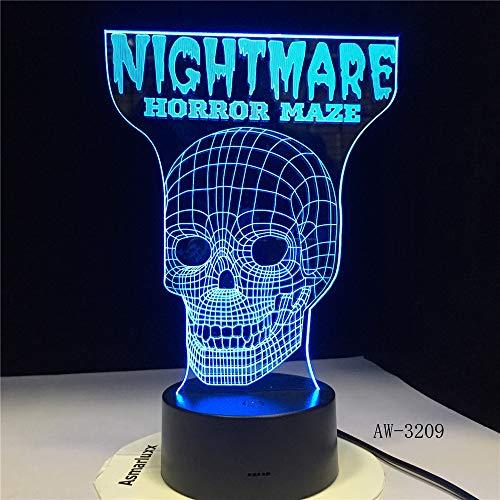 jiushixw 3D acryl nachtlampje met afstandsbediening kleur tafellamp boze religieuze herenhorloge hologram diagonaal geschenk tafellamp klein