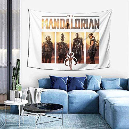 Lsjuee Star W The Man Dalorian Arazzo Soggiorno Camera da letto Decorazione College Dorm Tenda TV Sfondo Tovaglia 40 X 60 pollici.
