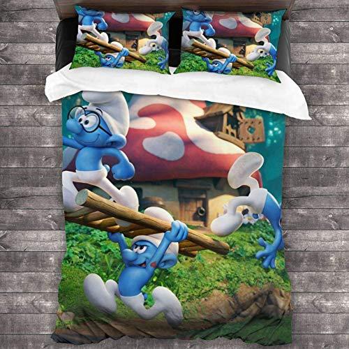 S-Mur-Fs - Juego de ropa de cama de 3 piezas, 218 x 177 cm, con 2 fundas de almohada para dormitorio de mujer