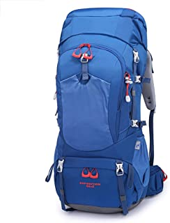 Outdoor Mountaineering Bag Bicycle backpack Hiking Camping backpack Multi-Function Travel backpack 65L Annacboy (Color : Blue)