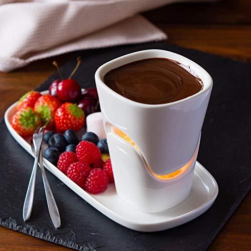 YXYLQ Ensemble De Fondue Au Chocolat en Céramique 120 ML Ensemble De Pot De Crème Glacée Pot De Crème Glacée Pot À Fromage