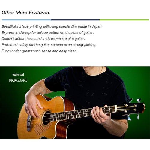 HealingShield『StyleTypeClearGlossyプレミアムアコースティックギターピックガード』