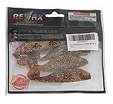 SANDAFISHING Juego de 4 señuelos de goma Relax Kopyto de Aqua de 10 cm, para lucioperca, lucio, perca, peces depredadores, peces artificiales, parcial efecto UV (juego de 12)