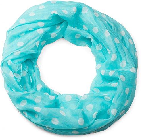 styleBREAKER fular de tubo con motivo de puntos, ligero y sedoso, pañuelo, mujeres 01016111