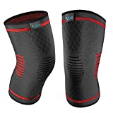 Upgraded Knee Brace 2 Pack Compression Sleeves Support for Women & Men, Wraps Pads for Running, Pain Relief, Injury...